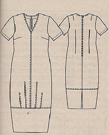 Описание: Выкройки платья для полных.